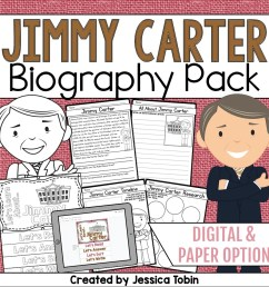 Jimmy Carter Biography Pack - Elementary Nest [ 960 x 960 Pixel ]