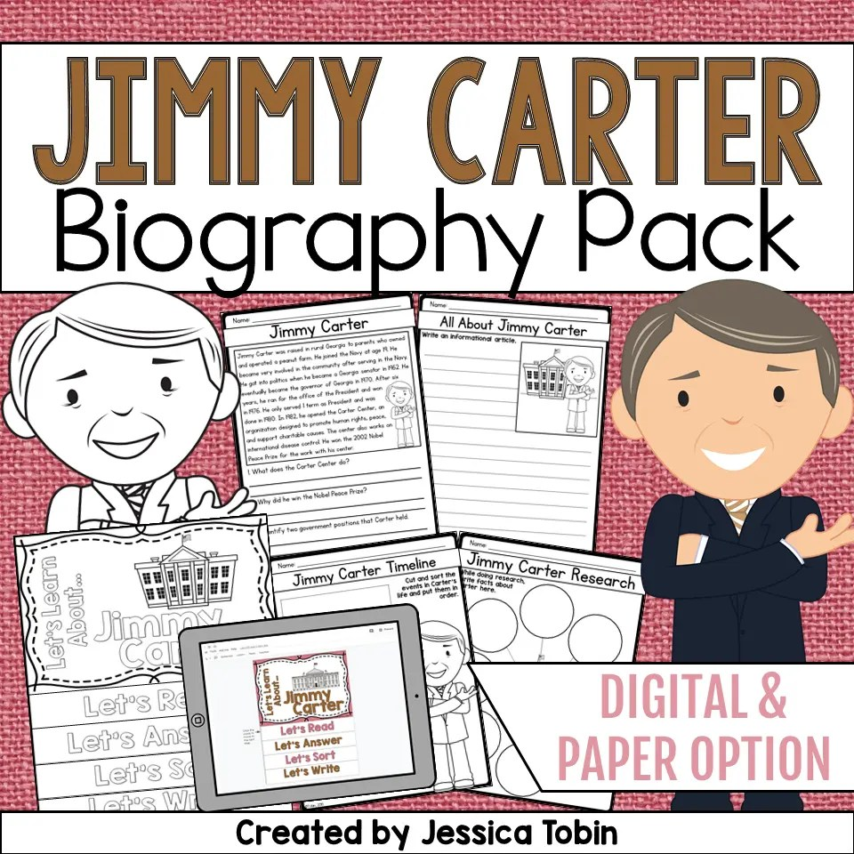 medium resolution of Jimmy Carter Biography Pack - Elementary Nest