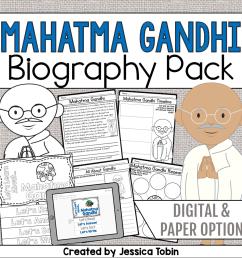 Mahatma Gandhi Biography Pack - Elementary Nest [ 960 x 960 Pixel ]