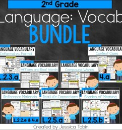 2nd Grade Language Vocabulary Bundle [ 960 x 960 Pixel ]