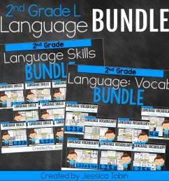 2nd Grade Language Domain Bundle - Elementary Nest [ 960 x 960 Pixel ]