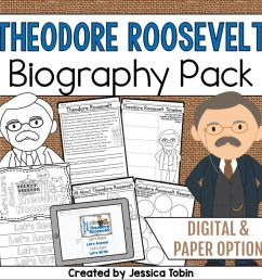 Theodore Roosevelt Biography Pack - Elementary Nest [ 960 x 960 Pixel ]