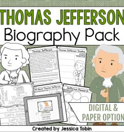 Thomas Jefferson Biography Pack - Elementary Nest [ 960 x 960 Pixel ]