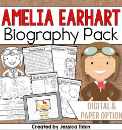 Amelia Earhart Biography Pack - Elementary Nest [ 960 x 960 Pixel ]