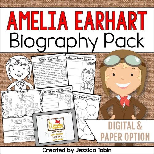 small resolution of Amelia Earhart Biography Pack - Elementary Nest