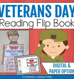 Veterans Day Flip Book - Elementary Nest [ 960 x 960 Pixel ]
