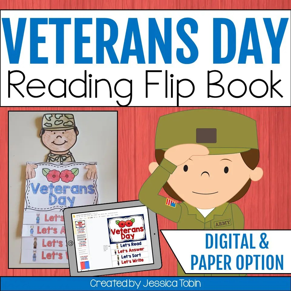 hight resolution of Veterans Day Flip Book - Elementary Nest