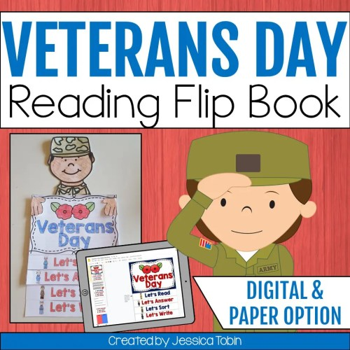 small resolution of Veterans Day Flip Book - Elementary Nest