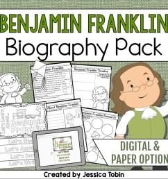 Benjamin Franklin Biography Pack - Elementary Nest [ 960 x 960 Pixel ]