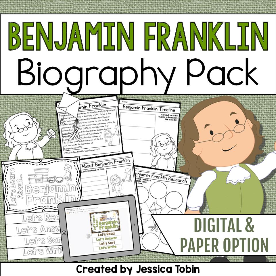 medium resolution of Benjamin Franklin Biography Pack - Elementary Nest