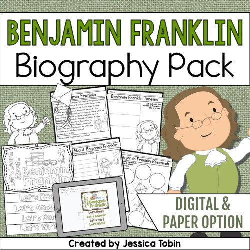 small resolution of Benjamin Franklin Biography Pack - Elementary Nest