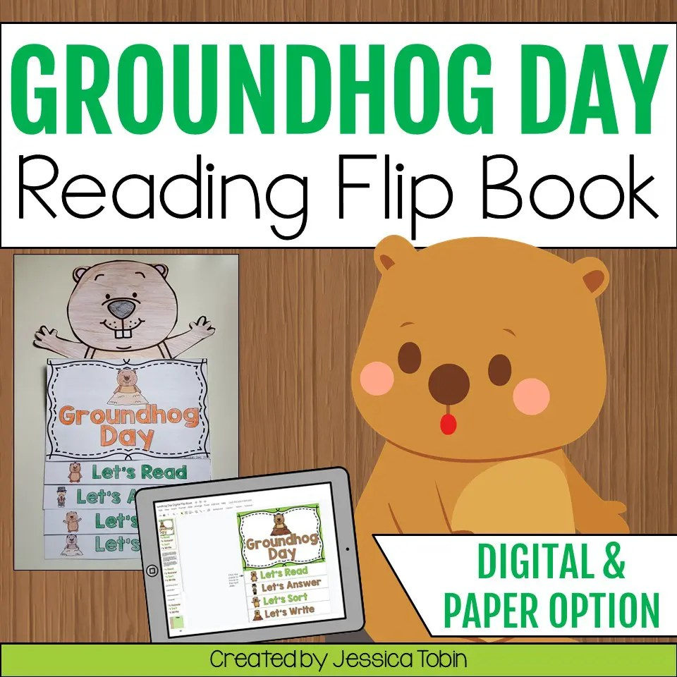 medium resolution of Groundhog Day Flip Book - Elementary Nest