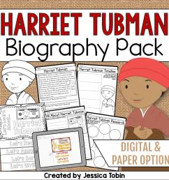 Harriet Tubman Biography Pack - Elementary Nest [ 960 x 960 Pixel ]