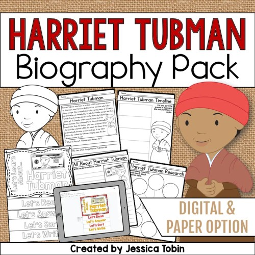 small resolution of Harriet Tubman Biography Pack - Elementary Nest