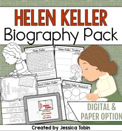 Helen Keller Biography Pack - Elementary Nest [ 960 x 960 Pixel ]