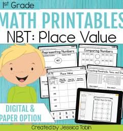 1st Grade NBT Math Worksheets - Elementary Nest [ 960 x 960 Pixel ]