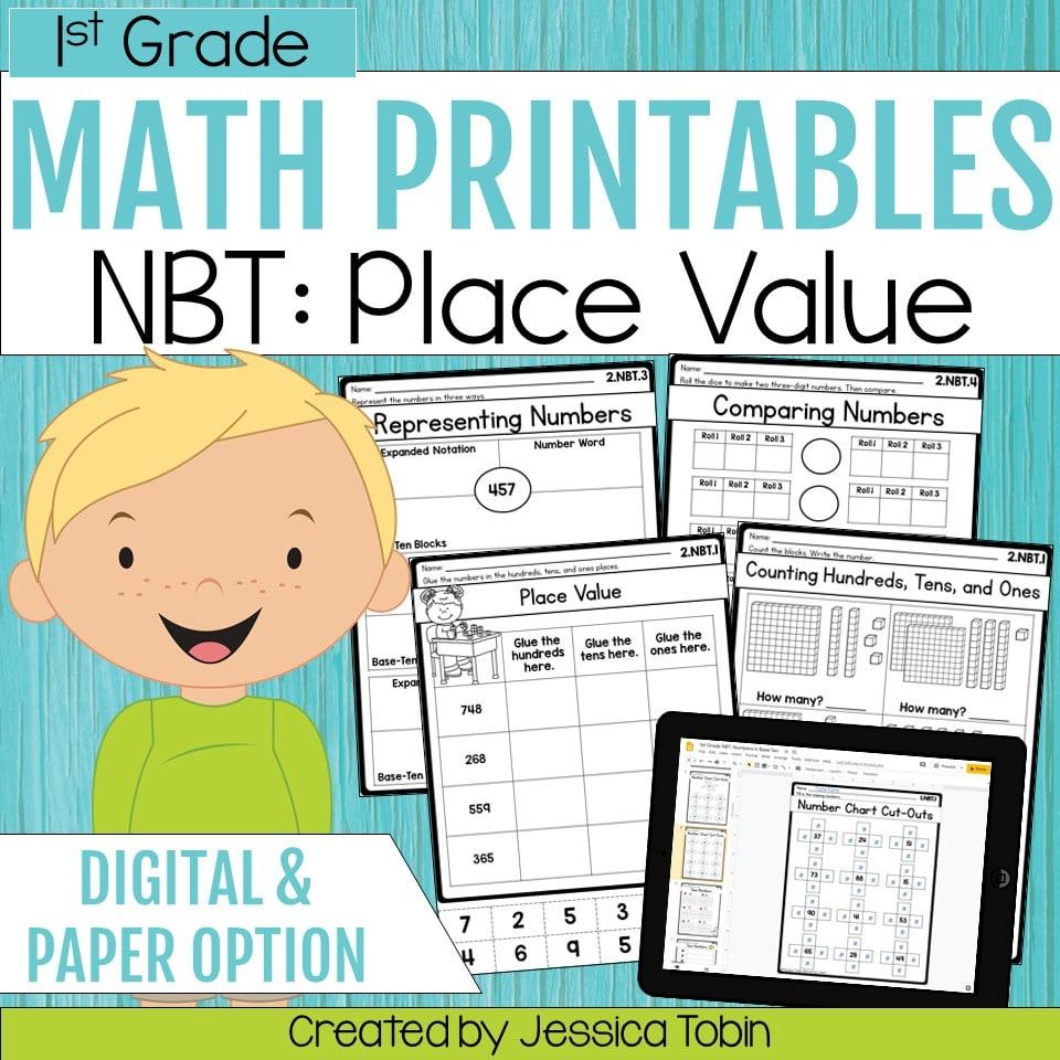 medium resolution of 1st Grade NBT Math Worksheets - Elementary Nest