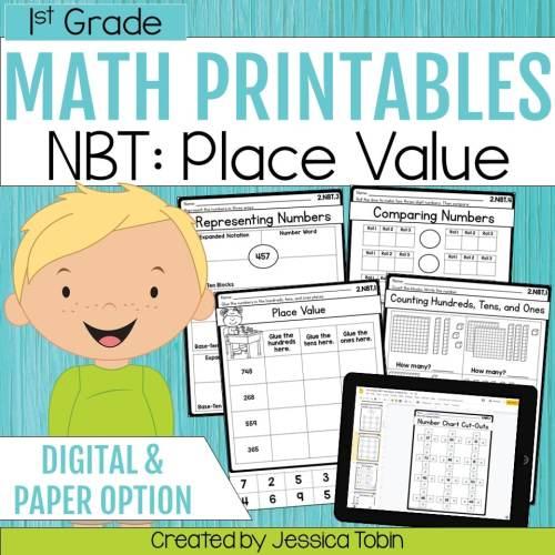 small resolution of 1st Grade NBT Math Worksheets - Elementary Nest