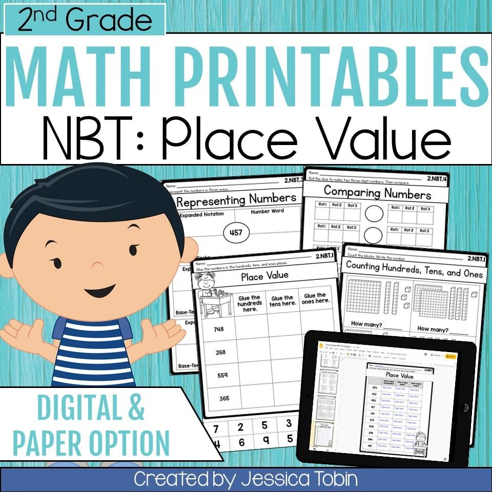 medium resolution of 2nd Grade NBT Math Worksheets - Elementary Nest