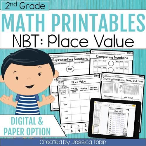 small resolution of 2nd Grade NBT Math Worksheets - Elementary Nest