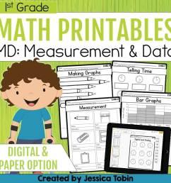 1st Grade Measurement and Data Math Worksheets - Elementary Nest [ 960 x 960 Pixel ]