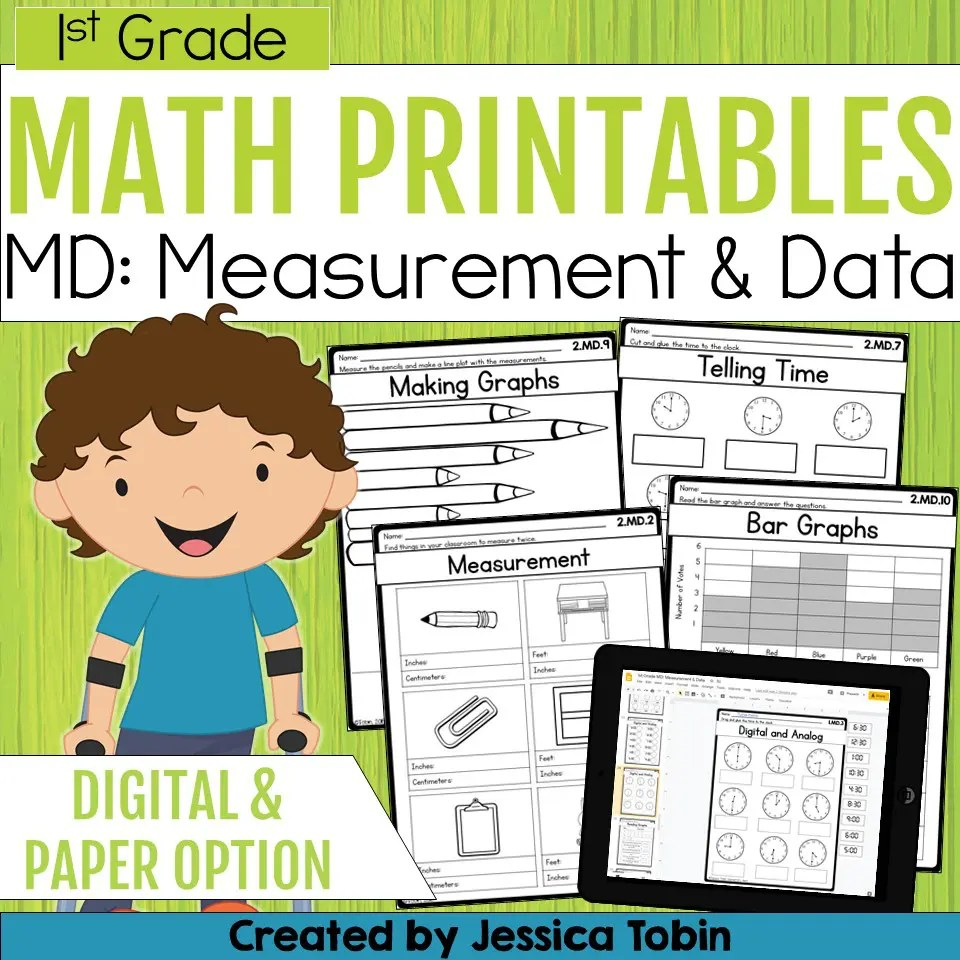 medium resolution of 1st Grade Measurement and Data Math Worksheets - Elementary Nest