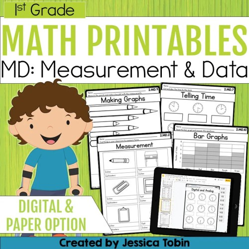 small resolution of 1st Grade Measurement and Data Math Worksheets - Elementary Nest