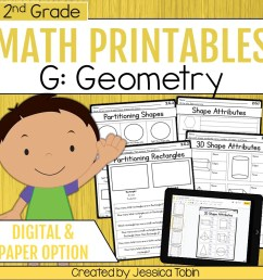 2nd Grade Geometry Math Worksheets - Elementary Nest [ 960 x 960 Pixel ]