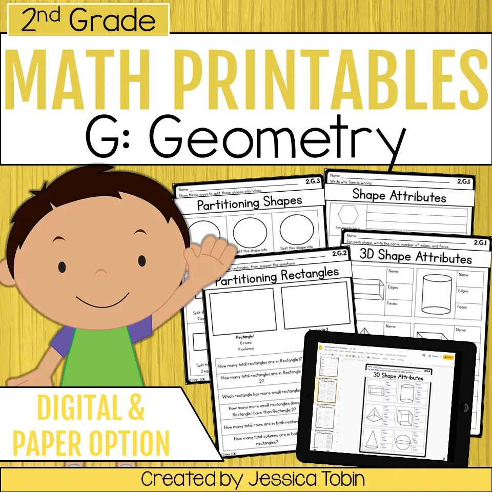 medium resolution of 2nd Grade Geometry Math Worksheets - Elementary Nest