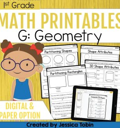 1st Grade Geometry Math Worksheets - Elementary Nest [ 960 x 960 Pixel ]