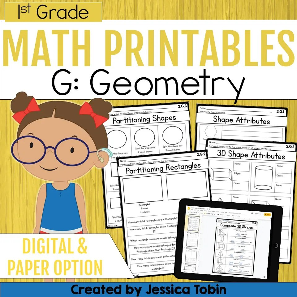 medium resolution of 1st Grade Geometry Math Worksheets - Elementary Nest