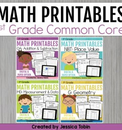 1st Grade Math Worksheets Bundle - Elementary Nest [ 960 x 960 Pixel ]