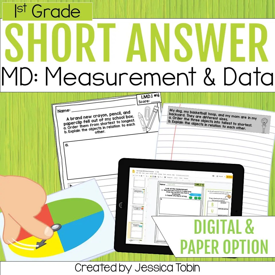 medium resolution of Measurement and Data 1st Grade Math Word Problems - Elementary Nest
