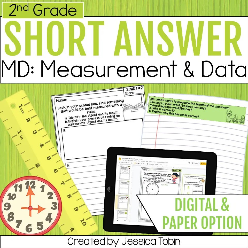 hight resolution of 2nd Grade Word Problems - Measurement and Data - Elementary Nest