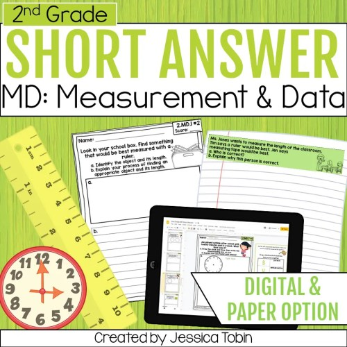 small resolution of 2nd Grade Word Problems - Measurement and Data - Elementary Nest