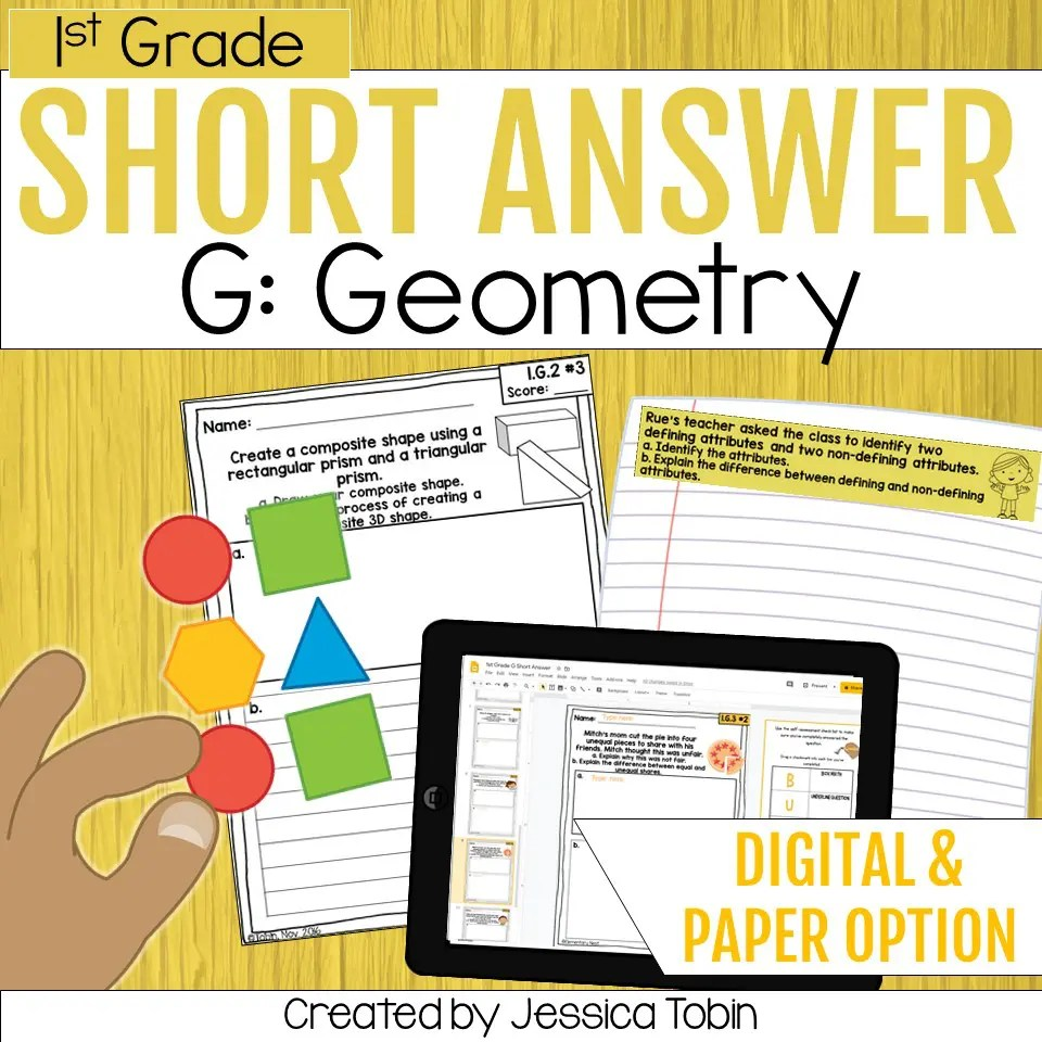 medium resolution of Geometry 1st Grade Math Word Problems - Elementary Nest