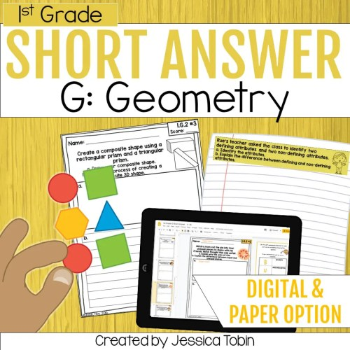 small resolution of Geometry 1st Grade Math Word Problems - Elementary Nest