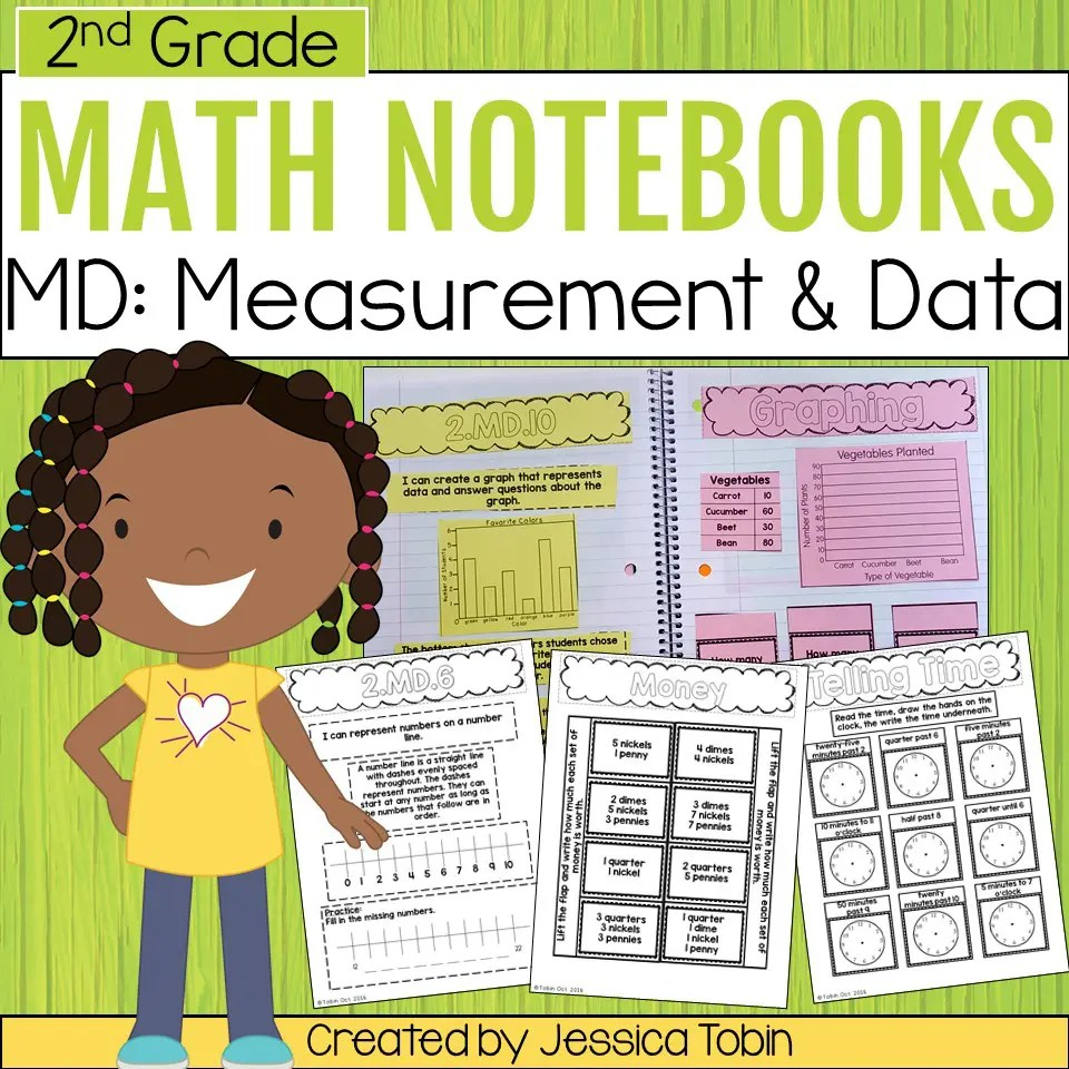 medium resolution of 2nd Grade Measurement and Data Math Interactive Notebook - Elementary Nest
