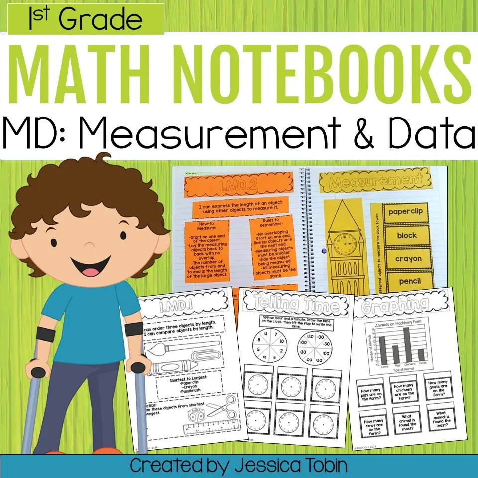 medium resolution of 1st Grade Measurement and Data Interactive Notebook - Elementary Nest