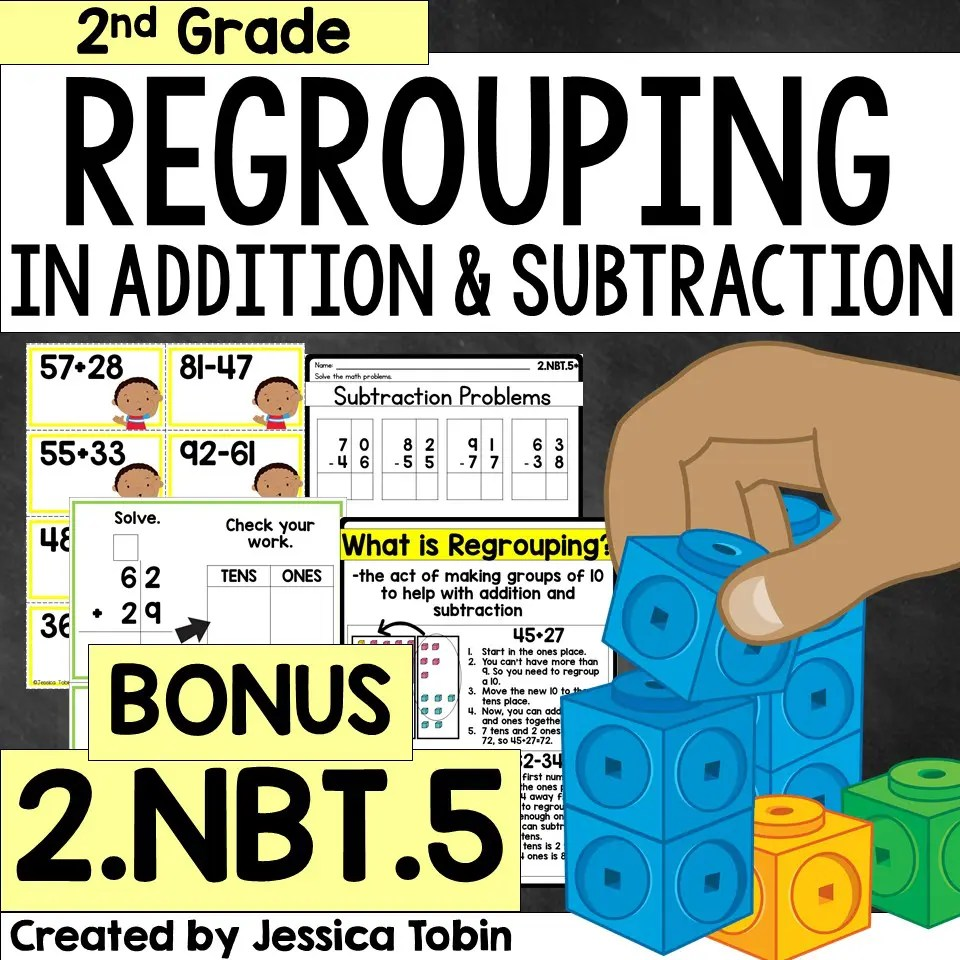 hight resolution of How to Teach Regrouping in 2nd Grade - Elementary Nest