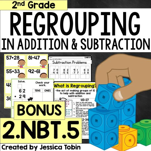 small resolution of How to Teach Regrouping in 2nd Grade - Elementary Nest