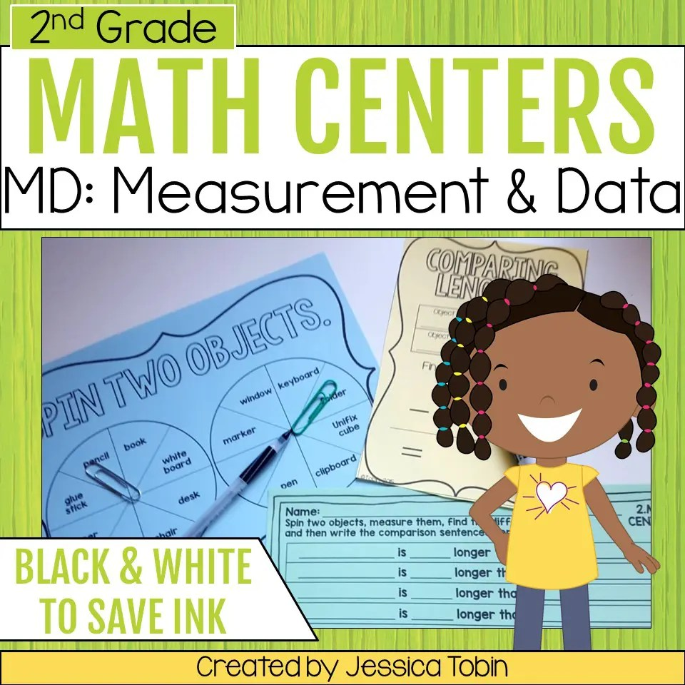 hight resolution of 2nd Grade Measurement and Data Math Centers - Elementary Nest