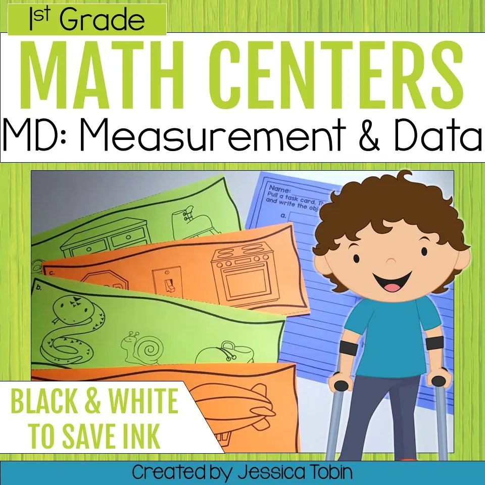 hight resolution of 1st Grade Measurement and Data Math Centers - Elementary Nest