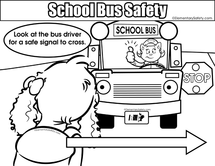 Coloring School Bus Safety
