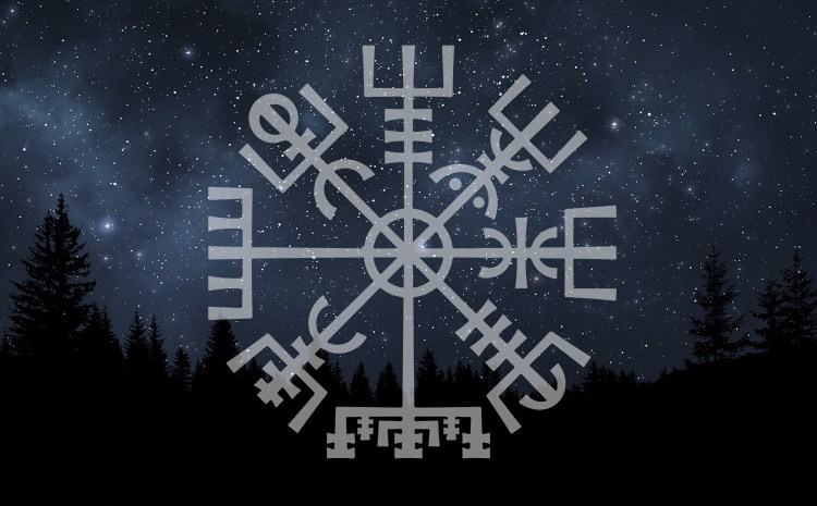night sky vegvisir viking compass