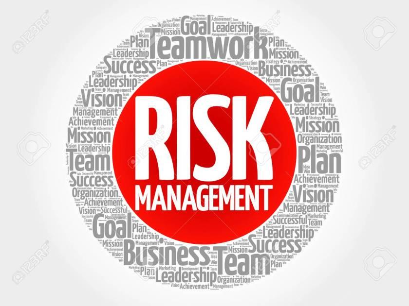 Risk Management circle word cloud