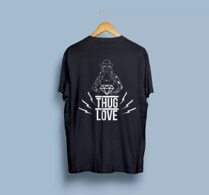 estampa overstanded design gráfico thug love mockup silk screen serigrafia