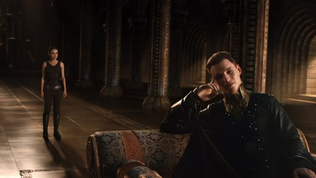 Eddie Redmayne (R) as Balem Abrasax with Mila Kunis