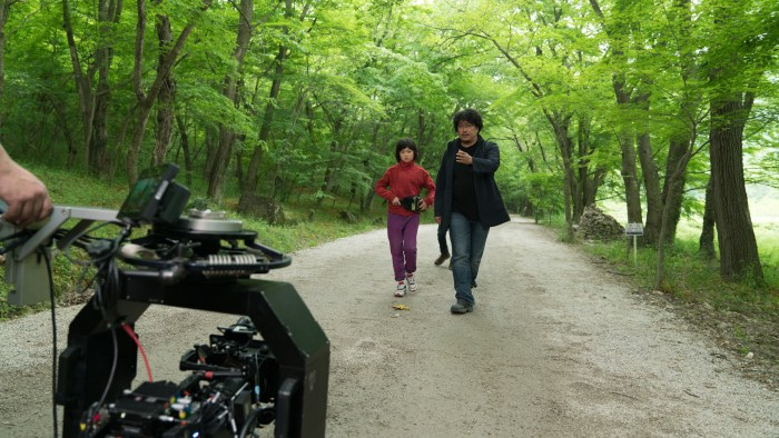 An Seo Hyun and Bong Joon Ho behind the scenes in OKJA