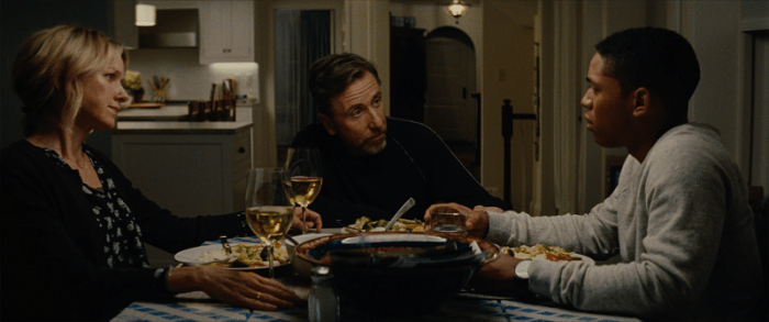 Amy Edgar (Naomi Watts), Luce (Kelvin Harrison Jr.), and Peter Edgar (Tim Roth) in LUCE. Courtesy of NEON.